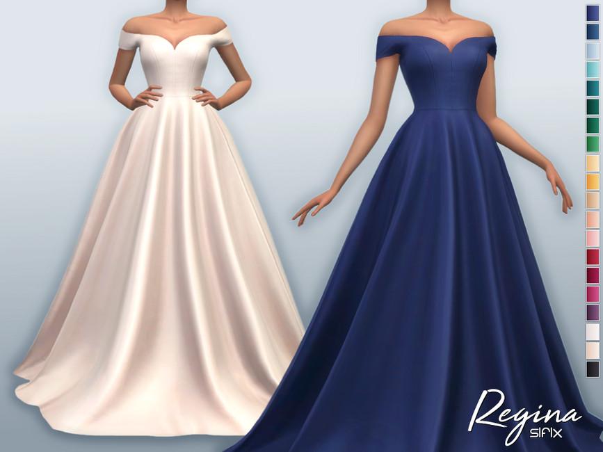 Платье Regina Dress Симс 4