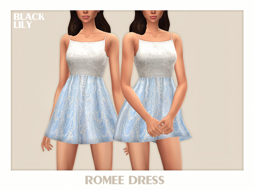 Платье Romee Dress Симс 4