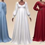 Платье Seraphine Dress Симс 4