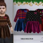 Платье TODDLER Dress RPL69 Симс 4