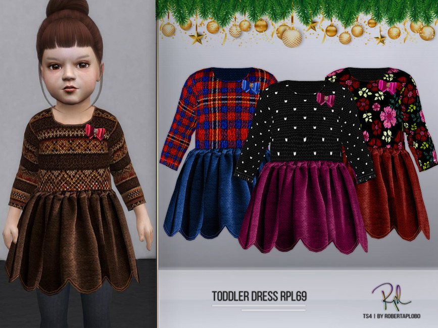 Платье TODDLER Dress RPL69 Симс 4
