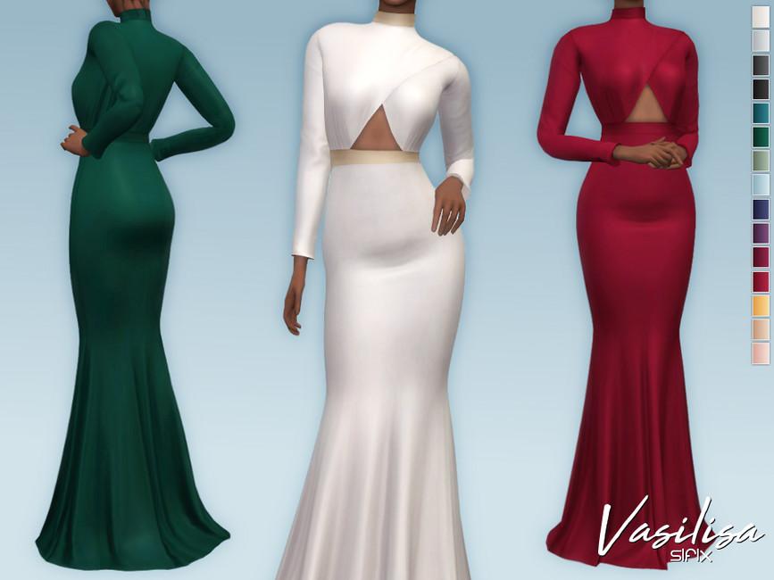Платье Vasilisa Dress Симс 4