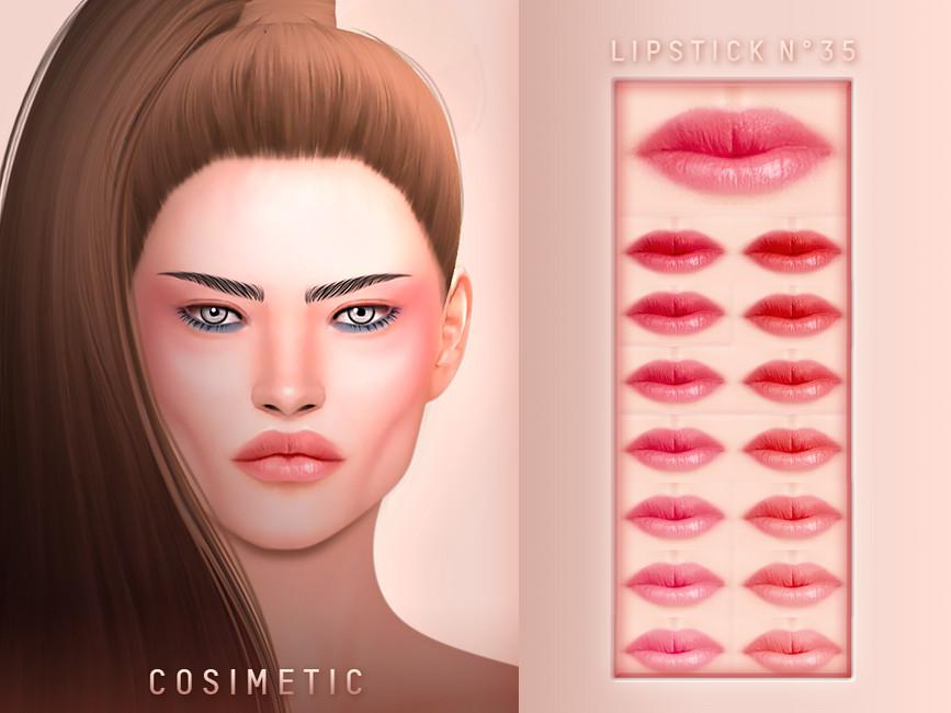 Помада COSIMETIC Lipstick N35 для Симс 4
