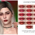 Помада LMCS Christmas N76 Lipstick Симс 4