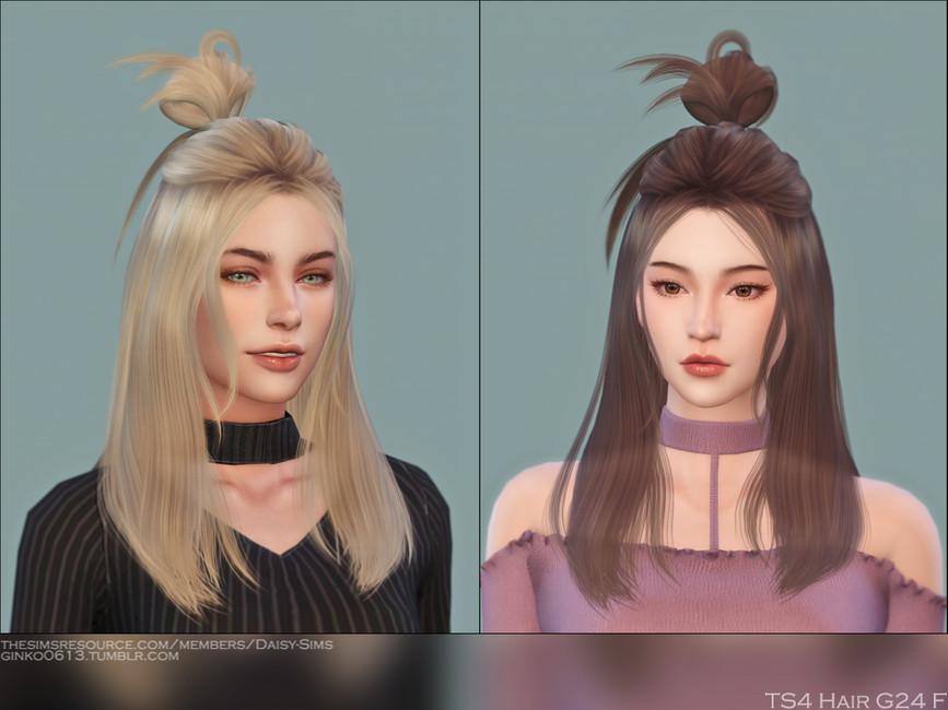 Прическа Female Hair G24 Симс 4