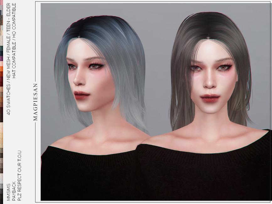 Прическа Payback Hair Симс 4