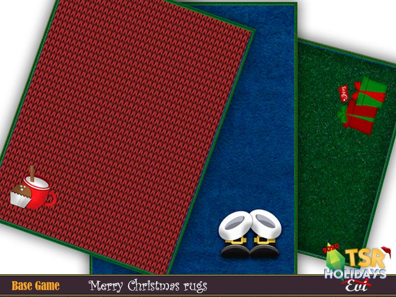 Рождественские ковры для Симс 4