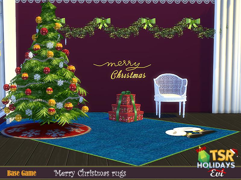 Рождественские ковры для Симс 4 (картинка 2)