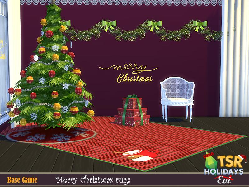Рождественские ковры для Симс 4 (картинка 3)