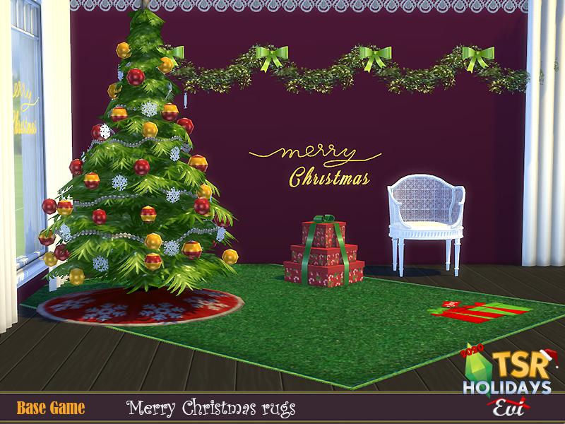 Рождественские ковры для Симс 4 (картинка 4)