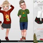 Рождественские туфли для малышей Симс 4
