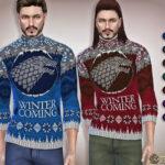 Рождественский свитер для мужчин Симс 4