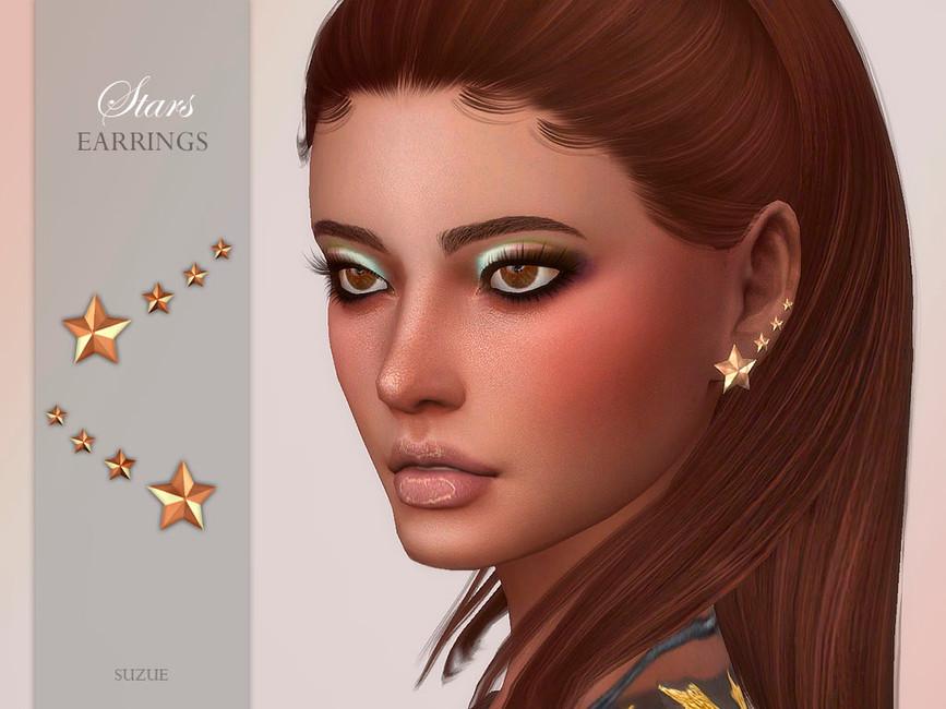 Сережки Stars Earrings для Симс 4
