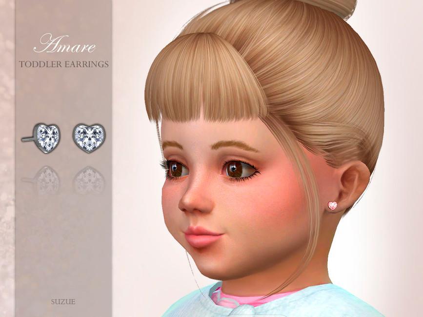 Серьги для детей Amare Toddler Earrings Симс 4