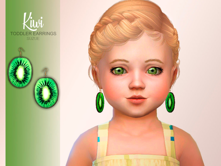 Серьги для детей Kiwi Toddler Earrings Симс 4