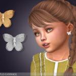 Серьги для детей Papilio Stud Earrings For Toddlers Симс 4