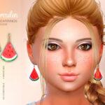 Серьги для детей Watermelon Child Earrings Симс 4