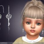 Серьги для малышей Rose Key Earrings For Toddlers Симс 4