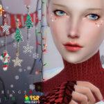 Серьги Earrings 30 by Bobur Симс 4