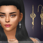 Серьги Rose Key Earrings Симс 4