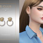 Серьги ts4 WM EARRINGS 202030 Симс 4