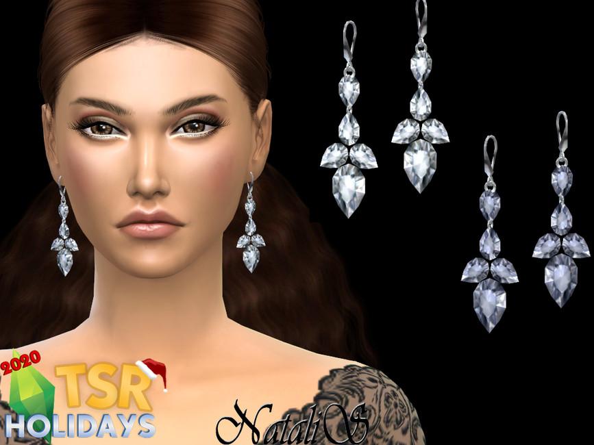 Серьги Winter Fairytale Earrings Симс 4