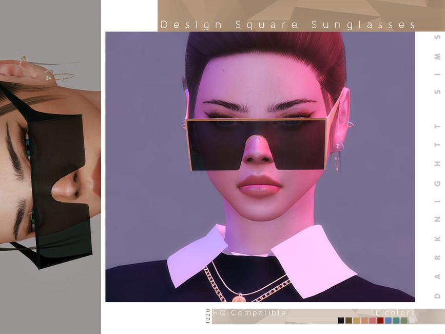 Солнцезащитные очки Design Square Sunglasses Симс 4