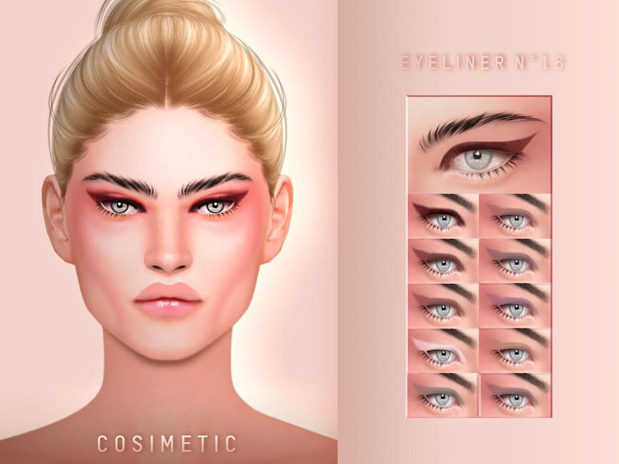 Стрелки для глаз Eyeliner N16 Симс 4