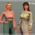 Свитер Crop Sweater - TP375 Симс 4