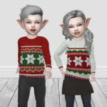 Свитер IP Toddler Christmas Knit Jumper Симс 4