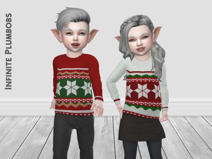 Свитер IP Toddler Christmas Knit Jumper Симс 4