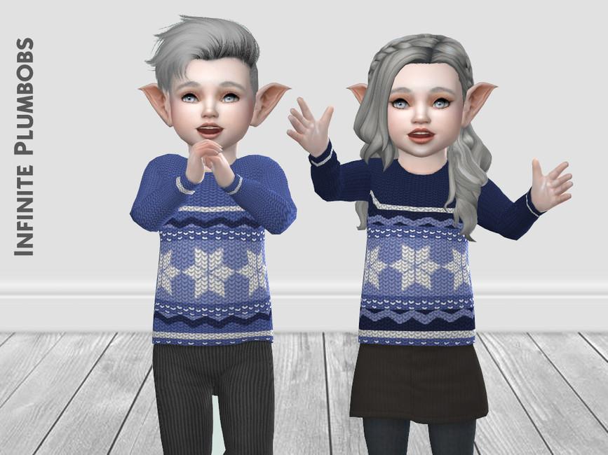 Свитер IP Toddler Christmas Knit Jumper Симс 4 (картинка 2)