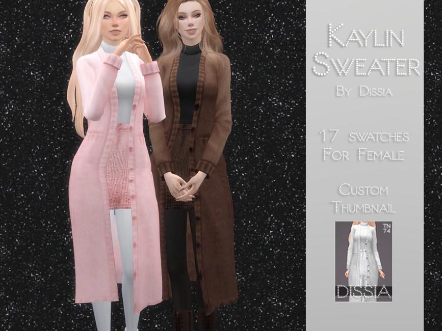 Свитер Kaylin Sweater with Turtleneck Top Симс 4