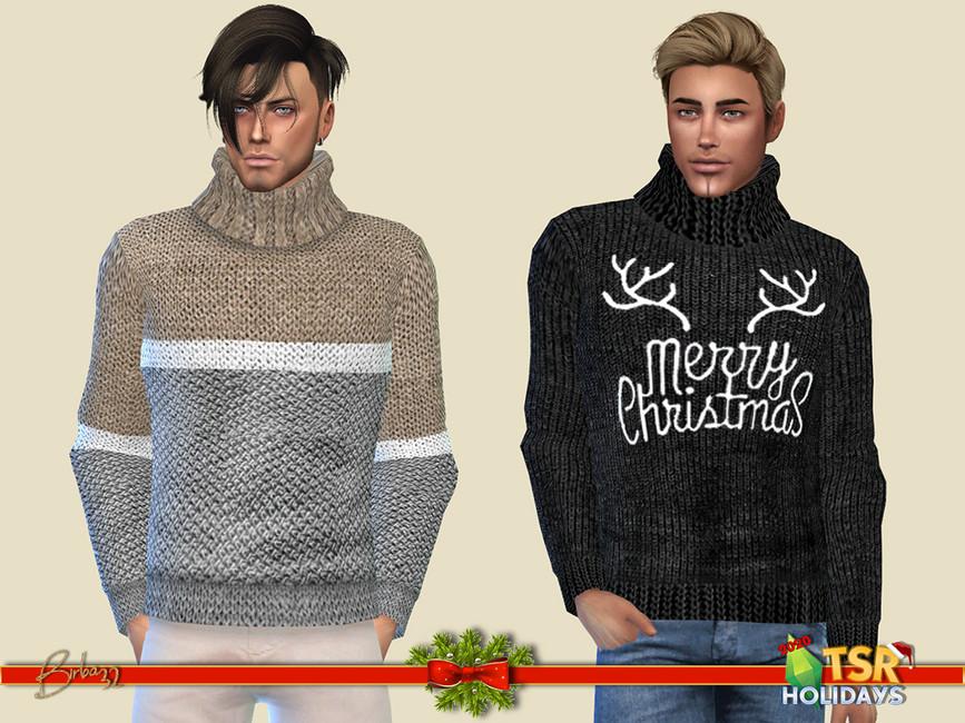 Свитер Sweater Big Collar Симс 4