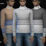Свитер Tino Button Sweater Симс 4
