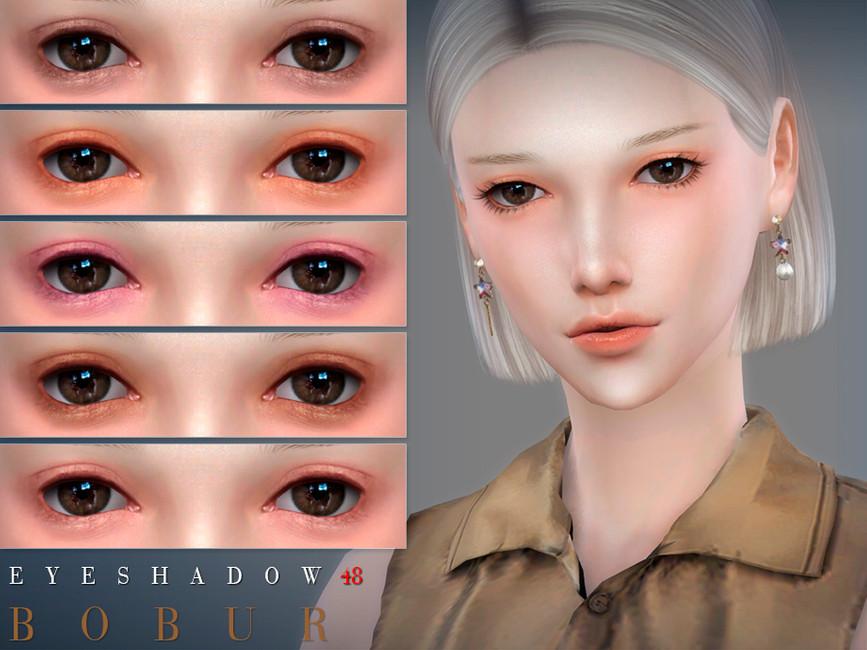 Тени Bobur Eyeshadow 48 Симс 4
