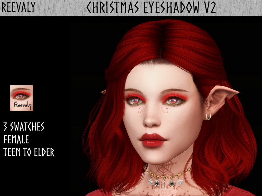 Тени Christmas Eyeshadow V2 для Симс 4