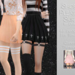 Юбка Short Pleated Skirt Симс 4
