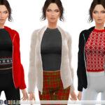 Женские куртки Симс 4