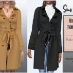 Женское пальто для Симс 4