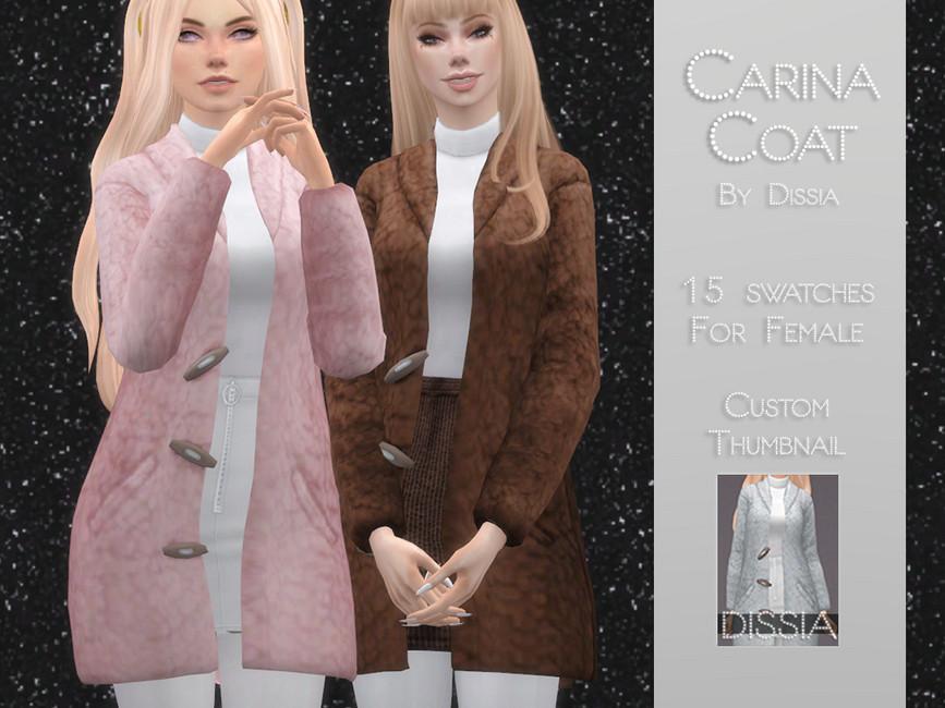 Женское пальто Симс 4