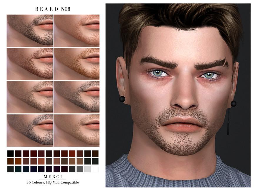 Борода Beard N08 Симс 4