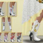 Ботинки Zoey Texan Boots Симс 4