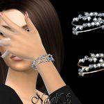 Браслеты Diamond Cluster Bracelets Симс 4