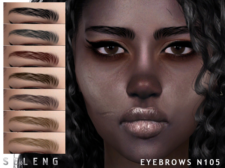 Брови Eyebrows N105 Симс 4