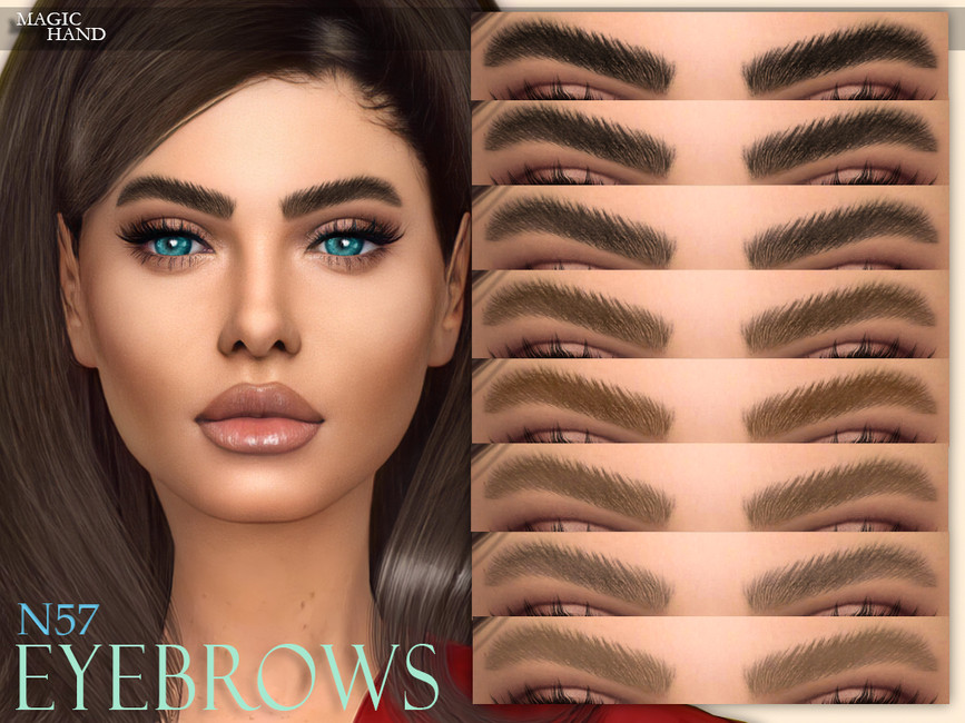 Брови Eyebrows N57 для Симс 4