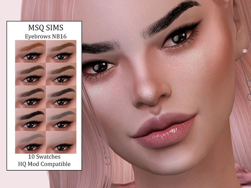 Брови Eyebrows NB16 Симс 4