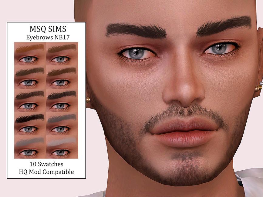 Брови Eyebrows NB17 для Симс 4