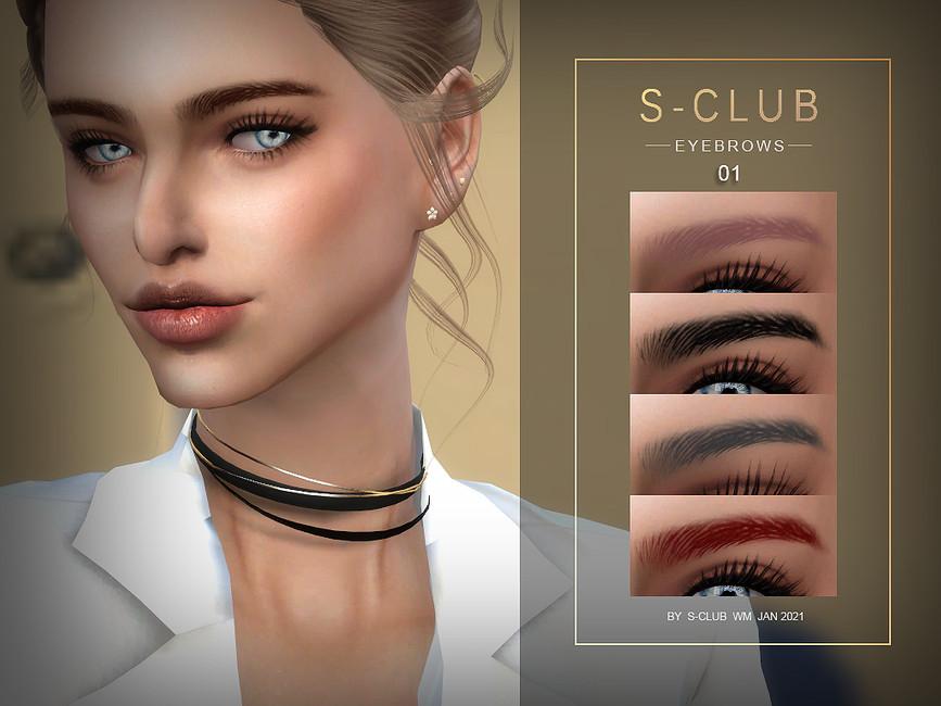 Брови WM ts4 Eyebrows 202101 Симс 4