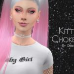 Чокер Kitty Choker v2 Симс 4